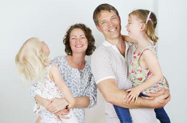 Familiefoto forfatterne